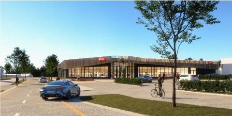 SLIK BLIR DEN NYE BUTIKKEN: Det blir en helt ny Meny.butikk rett ved sentrum.