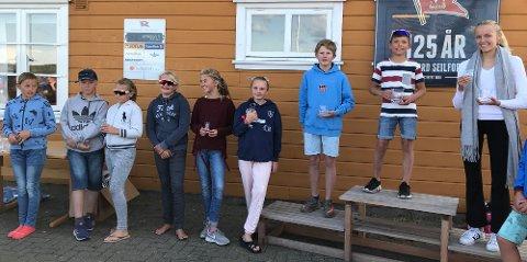 KM-GULL: Henrik Løset Eriksen vant Optimist A under helgens mesterskap i Sandefjord og kunne ta turen opp på seierspallen.