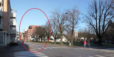 DRONNINGENS GATE ØST: Motiv fra Stockflets gate. (Illustrasjon: PV Arkitekter)