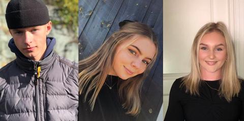 HØYERE UTDANNING: Gunleik, Trine og Julie skal søke høyere utdanning for første. I dag er siste frist for å søke.