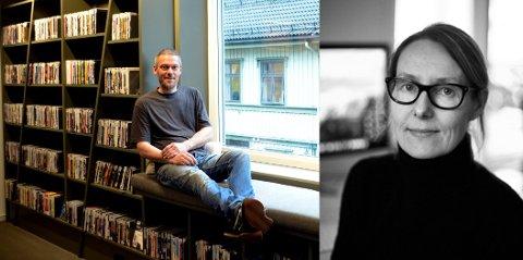 Trond Bjørnar Kristensen har millimetersnekret det plassbygde interiøret på Holmestrand bibliotek, som åpnet i helgen. Interiørarkitekt Mette Heimtun har tegnet interiøret.