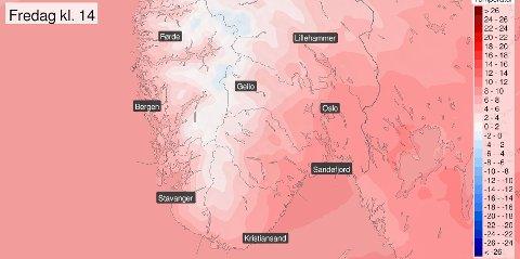 VARMEBØLGE: Ikke vanlig at man får temperaturer opp mot 12-13 grader i november.