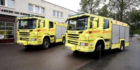 DYRE OG BANEBRYTENDE: Med en prislapp på over fire millioner kroner per stykk, skal de tre nye brannbilene i Asker og Bærum gi bedre arbeidsvilkår for mannskapene og bidra til enda bedre brannbereskap.