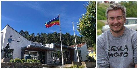 """Alte Aasvik (21) står bak arrangementet """"Risør Pride"""". På grunn av korona blir dette flyttet til neste år, men han håper likevel at lokalbefolkningen viser sin støtte på lørdag."""