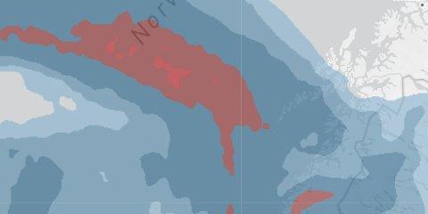 Lørdag morgen kommer lavtrykket fra vest og innover Nordland.