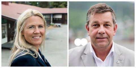 DUELL: Monica Myrvold Berg, ordførerkadidat for Nye Drammen Ap, stiller i sin første ordførerduell mot Fredrik Haaning, ordførerkandidat for Nye Drammen Høyre.
