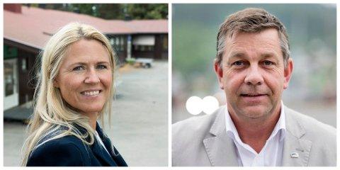 RIVALER: Monica Myrvold Berg (Ap) og Fredrik A. Haaning (H).