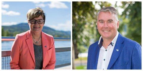 Kristin Ørmen Johnsen og Trond Helleland har sagt ja til å stille som representanter for Buskerud til Stortingsvalget 2021.