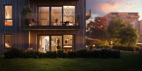 STORE PLANER: Slik kan planlagte boliger på Sundland bli seende ut, dersom resten av Proffen Hageby blir solgt og bygget.