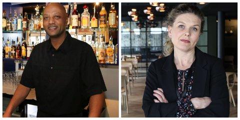 GODE TAL: Både Robel Yemane Berhane, frå Bremanger Fjord Hotel, og Tone Øren frå Victoria Hotell i Florø kan vise til gode tal i 2019.