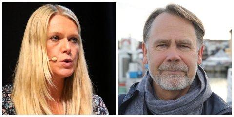 FULL FART: Randi Humborstad i Måløy Vekst og Bjørn Hollevik i Florøa industri og næringsforening vil ikkje ha noko utsetting av Svelgen-Indrehus.