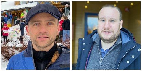 GIR SEG IKKJE: Bjarte Steinhovden er leiar for grendalaget i Steinhovden. Håkon Furelid er leiar i FAU. Dei har ikkje gjitt opp å redde nærskulen.