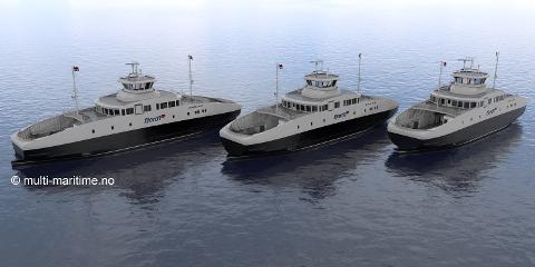 Tre ferer skal byggast ved Havyard Ship Technology i Leirvik. Den første ferja skal leverast i midten av mai 2018.