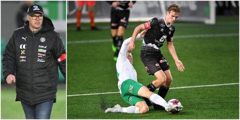 MÅ SPELE: Sivert Mannsverk (18) kan velje og vrake i europeiske klubbar den dagen han reiser frå Sogndal. Kjetil Rekdal meiner han bør gå til ein stad der sjansane for mykje speletid er gode.