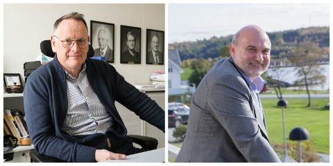 POSITIVE: Sunnfjord kommune og Askvoll kommune er positive til busetting av flyktningar neste år. F.v. Kommunedirektør i Sunnfjord kommune, Ole John Østenstad, og rådmann i Askvoll kommune, Håkon Loftheim.