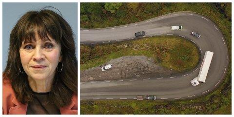 I INNSPURTEN Jenny Følling jobbar med å  overtyde andre politikarar om at E39 gjennom Sogn og Fjordane må utbetrast.