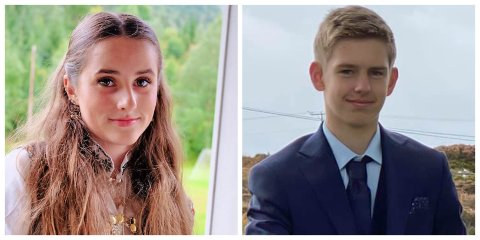 ANNLEIS: Susanne Skjerdal (15) og Oliver Bøe Wolff (15) fekk ein litt annleis konfirmasjon.