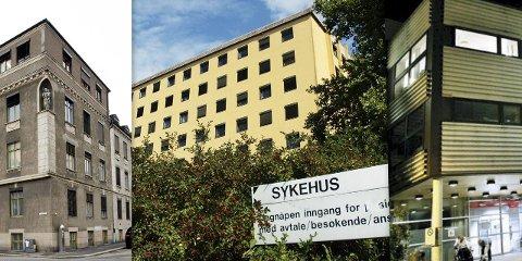 Sykehus i flere deler: Driften av det opprinnelige St.Josephs hospital ble overført til fylkeskommunen i 1972. A-blokka sto klar for bruk våren 1956, mens serviceblokka med nytt inngangsparti ble tatt i bruk i 1983.