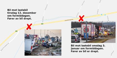 To dødsulykker på tre uker: Dagens ulykke ved Vesten i Borge var den andre på tre uker i det samme området.