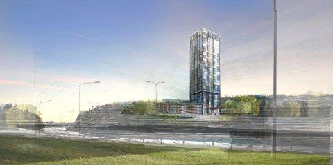 NESTEN 30 etasjer: Arild Åserud er fornøyd etter at hotellplanene nå er godkjent. Planlagt byggestart er neste vår.