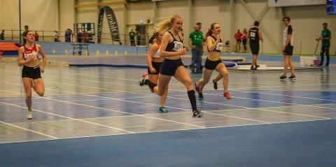 GULL: Ida Breigan (nummer 125), løp 60 meter på 8,02, som sørget for en førsteplass.