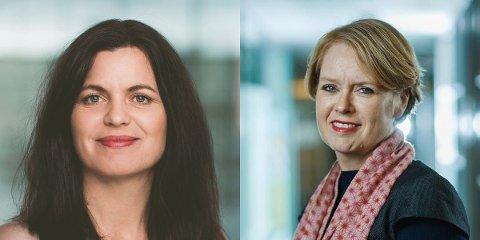 – Det er lurt å ansette ungdom i sommerjobb i bedriften. Nina Solli (til venstre) og Marianne Aasen.