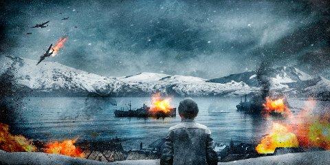 Dette illustrasjonsbildet viser hvordan storfilmen om slaget om Narvik kan bli.