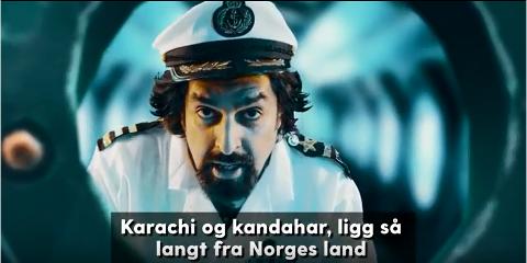 INNVANDRARNA: Musikkvideon er spilt inn i Horten, i ubåten ved Karljohansvern.
