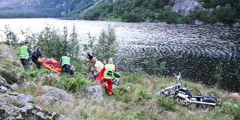 Einarsen Gloppedalsura gloppedalen mc-ulykke trafikkulykke