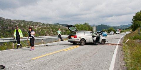 Bue bilulykke dødsulykke e39 omdirigering søyland trafikkaos