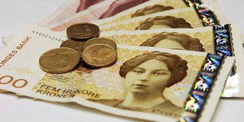illustrasjon kroner mynter penger pengesedler økonomi