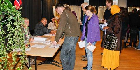 borgerplikt stemmelokalet stortingsvalget 2013 valglokalet veveriet