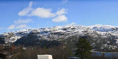 Slik kan utsikten fra Giljastølen bli når vindmøllene er på plass.