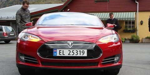 Tesla byrkjedalstunet el-bil elbil leaf