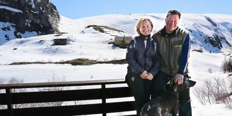 Påsken skal tilbringes her, på hytta i Hunnedalen, mener ekteparet Inghild og Ove Johan Aklestad.