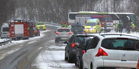 Ulykka skjedde ved Toberget mellom Ålgård og Oltedal i februar 2012.