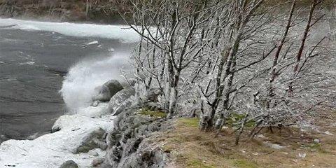 Vinden blåste kraftig på Ragsvatnet.
