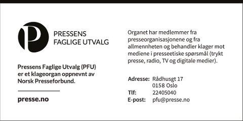 PFU: Pressens faglige utvalg er et klageorgan oppnevnt av Norsk Presseforbund