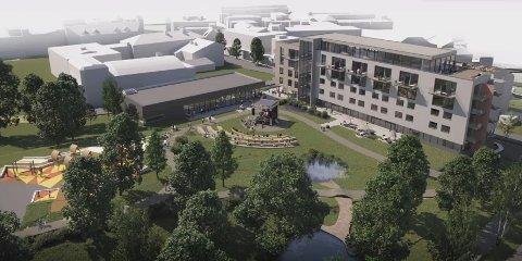OMSTRIDT: Mange har meninger om plasseringen av det planlagte sentrumshotellet ved Byparken.