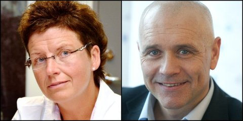 Eli Blakstad, nåværende assisterende fylkesmann i Oppland, og Inge Myklebust, nåværende fylkesopplæringssjef i Oppland fylkeskommune. Begge har søkt direktørjobb i det nye fylkesmannsembetet.