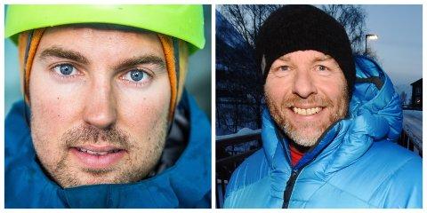 Iver Lund Aakre (t.v) og Knut Erik Tessnes er to av tolv personar som kom gjennom nålauget i utdanninga som skivegleder som organiserast av NORTIND.