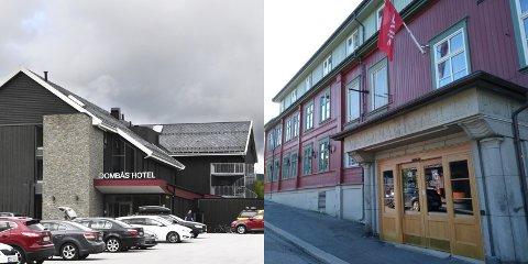 FIKK BESØK: Reisefølget med korona-smitte bodde på Dombås hotell og Scandic Victoria Lillehammer.