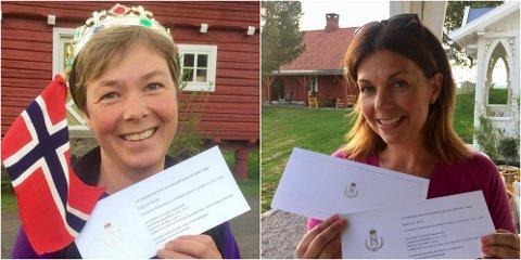 Sigrid Heier og Audhild Hval er invitert til kongelig hagefest på Maihaugen.