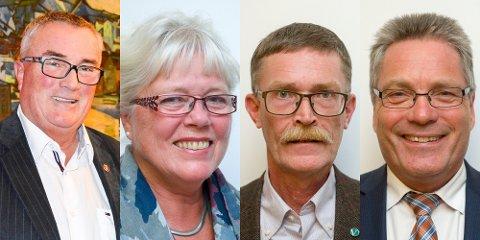 POSISJONEN: Per Egil Evensen (Frp), Anne Kari Holm (Sp), Geir Helge Sandsmark (V) og Thor Edquist (H).