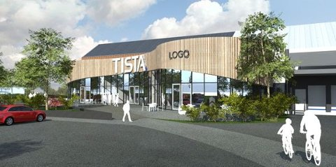 NYE FORRETNINGER: Nye butikker vil åpne i Tista senter som skal bygges ut. Alt skal være klart til april 2022.