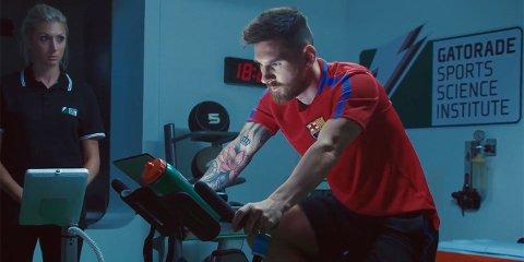 MESSI: Borja har laget filmer med Barcelona-legenden Lionel Messi. Her fra Gatorade-filmen fra 2018. Foto: Gatorade