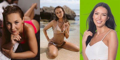 REALITY: Helene Hima (23), Martine Ellinsen Stol (22) og Ellinor Selsø Håkonsen (25) deltok i realityprogrammene «Ex on the beach» og «Love Island» høsten 2018.