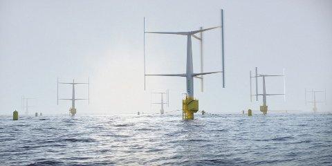 VERTIKAL VIND: Det svenske selskapet SeaTwirl har utviklet en turbin med vertikal akse, som etter planen skal testes i havet ved Bokn i 2022..