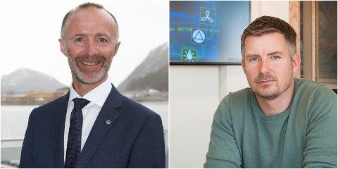 Både nestleder i fylkesrådet, Svein Eggesvik (t.v.) og daglig leder i Helgeland Kraft Vannkraft AS, Toril Nersund, er fornøyde med å ha kommet til enighet.