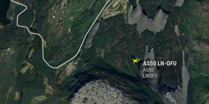 FORSVANT FRA RADAREN: Her ble helikopter borte fra radaren.